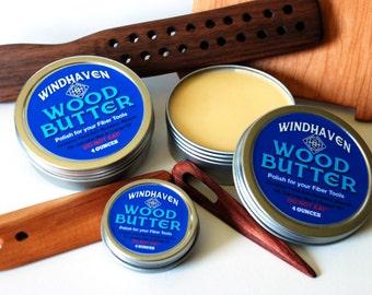 Windhaven Wood Butter Wax Blend - Wooden Fiber Tool Conditioner - Sealer Finisher Food Safe Natural Bee Carnauba Wax Mineral Orange Oil