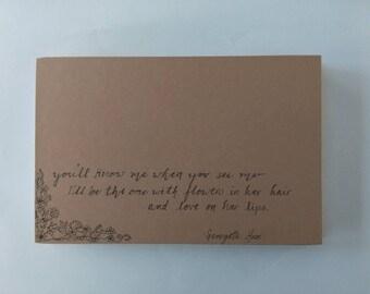Poem sketchbook/journal