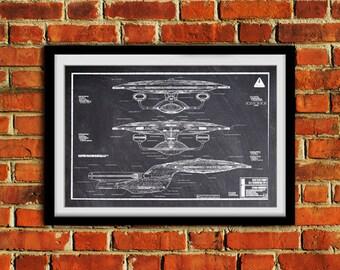 Star Trek Enterprise D Side View #0110