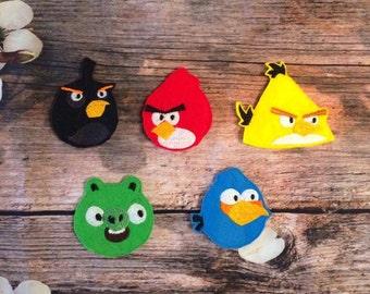 Unhappy Birds Finger puppet set of 5