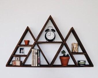 Large Geometric Mountain Shelf
