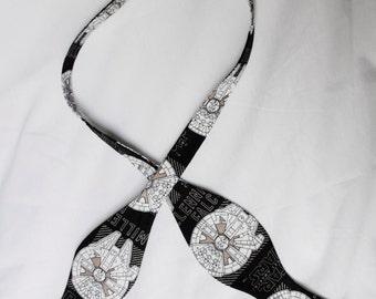 Men's Self Tie Adjustable Star Wars Millennium Falcon The Force Awakens Bow Tie Butterfly Width Style Millenium