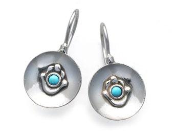 Hamsa Imprint Earrings
