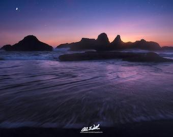 Tidal Twilight, seal rock, oregon coast, seascape, nature, wall art, landscape, photography, sunset