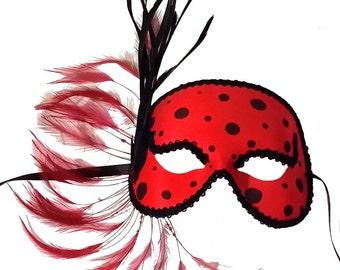 Ladybug Masquerade Mask - U702