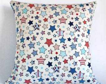 16 Inch Cushion Cover, stars Cushion Cover, Pillow Cover, Throw Cushion, Stars Pillow Cover, Novelty Cushion, Accent Cushion,