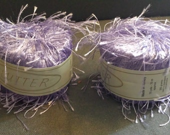 Flutter Metallic Lavender/Purple Shade 66, Lot of 2 Skeins, 150 Yards Total