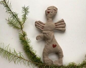 Christmas Angel/ Clothe Angel Doll/ Christmas Ornament/ Christmas Handmade Doll/ Linen Doll Angel/ Christmas Home Decor/ Christmas Rag Doll
