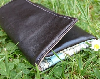 handmade vegan leather wallet
