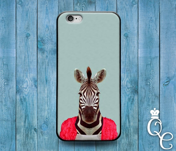 iPhone 4 4s 5 5s 5c SE 6 6s 7 plus iPod Touch 4th 5th 6th Generation Cute Pink Jacket African Zebra Phone Cover Cool Funny Animal Joke Case