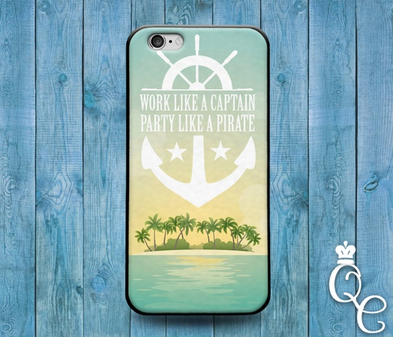 iPhone 4 4s 5 5s 5c SE 6 6s 7 plus + iPod Touch 4th 5th 6th Generation Cute Captain Pirate Funny Boat Ship Phone Cover Quote Cool Beach Case