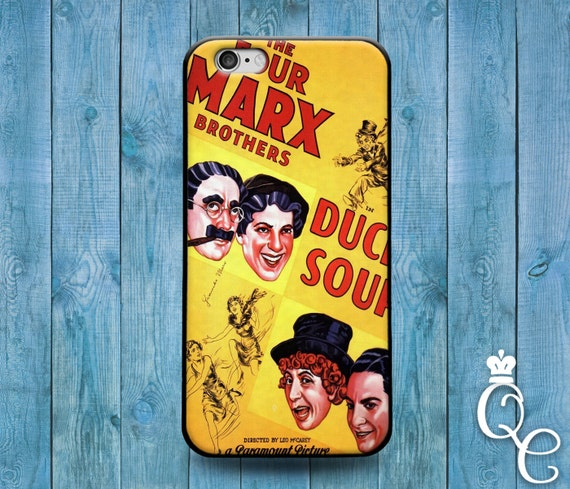iPhone 4 4s 5 5s 5c SE 6 6s 7 plus iPod Touch 4th 5th 6th Gen Cute Funny Famous Movie Cool Marx Brothers Duck Soup Fun Phone Cover Case
