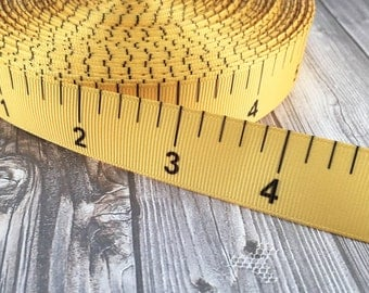 "Back to school - School ribbon - Ruler ribbon - 7/8"" Grosgrain ribbon - Inches ruler - School days - I love school - DIY school bows"