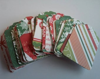 Christmas gift tags, Holiday gift tags, Variety gift tags, Bulk gift tags, Set of 35 or 100