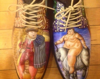 Fernando Botero Hand Painted Leather Shoes