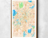 Map of Orlando, Orlando, Orlando art, Orlando map, Orlando print, Orlando decor, Orlando gift, Orlando art map, Orlando poster, Wedding Gift