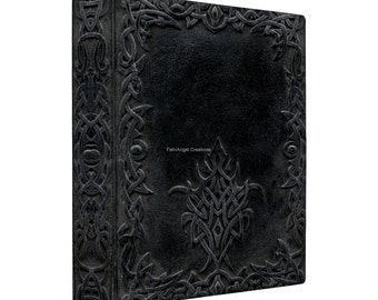 3 Ring Binder, Dark Tribal Edging Book, 4 Sizes Available!