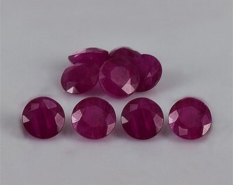 6mm Natural Ruby Faceted Cut Round Red Pink Color - Natural Precious Loose Gemstone