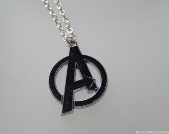 AVENGERS NECKLACE  | silver-plated chain, waxed cord, leather |