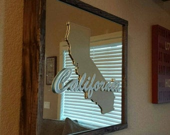 3d California Mirror Decor