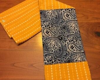 100% Cotton Embellished Tea Towel: Sunshine and Paisley