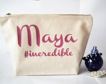 Personalised wedding make up bag Cosmestic bag