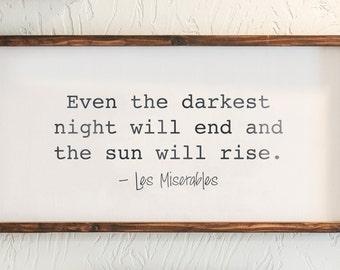Les Miserables - Wood Sign