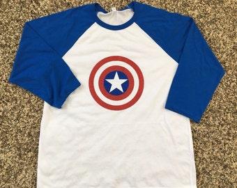 Captain America inspired shirt, avengers shirt