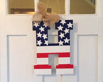 American Flag Door Hanging