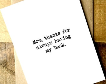 Mom Card - Mom from daughter - Mom from son - Mom Birthday Card - Card for Mom - Mother's Day Card - Mother's Day from son - Mother's Day
