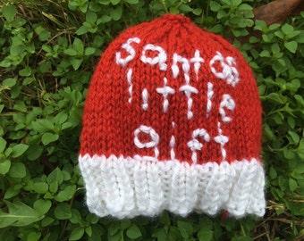 Santa's Little Gift Christmas Baby Hat