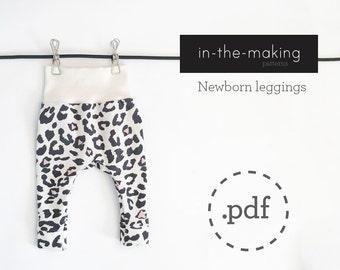 Newborn leggings pattern PDF