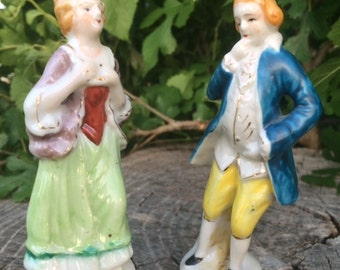 Sale! Porcelain Man and Woman Figurines, Occupied Japan, Décor, Gift