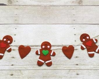 Christmas Garland Banner - Gingerbread Garland - Christmas Decoration - Wall Hangings - Ornament Garland - Photography Prop