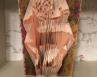 Folded book art deer