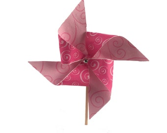 Pinwheel Cupcake Toppers - Set of 12