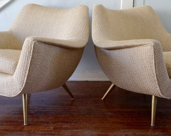 Gorgeous Pair of 1950's  Mid-Century Modern Lounge Chairs