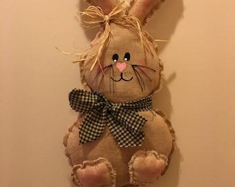 Handcrafted Door Hanger Spring Bunny