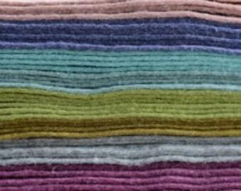 Felt Wool Mix Squares 30 cm x 30 cm Vintage Colours