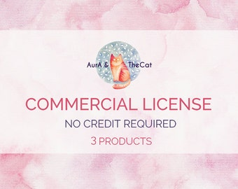Limited Commercial License NO Credit required for three product