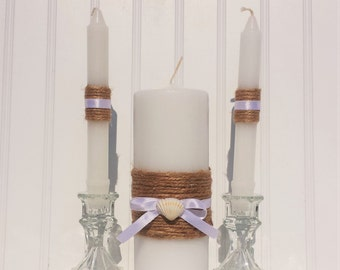 Beach Wedding Unity Candle Set