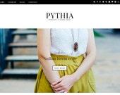 Pythia - A Simple Fashion Blogger Template - Blogspot Theme - Blogger Fashion Template - Personal Blog Premade Blogger Templates