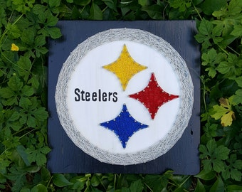 Pittsburgh Steelers String Art Made to Order Home Decor