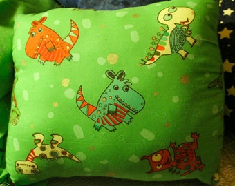 Custom/Personalized Playful Monster Fleece and Cotton Throw Pillow
