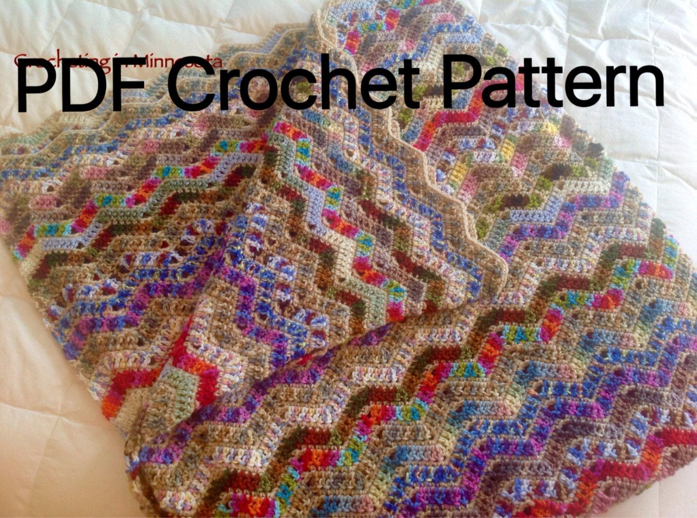 Variegated Ripple Scrapghan Afghan Crochet Pattern Crochet