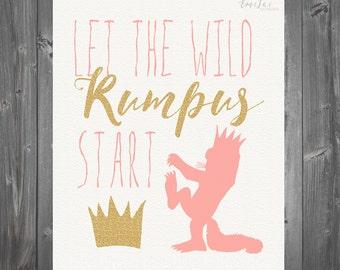 Girl Where the Wild Things Are Nursery/Birthday Prints