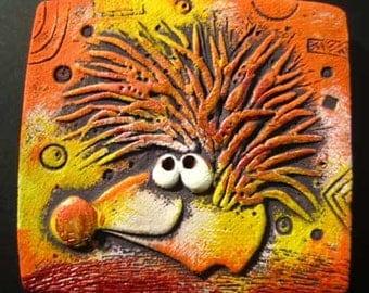 """ceramic magnet """"Disco Hedgehog"""""""