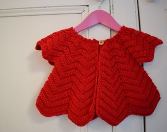 Girls Ripple Cardigan - Age 12months