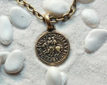 Templar pendant etsy seal of templar knights order of solomons temple templar pendant mascot of templars knight pendant mozeypictures Image collections