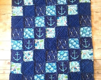 Rag Quilt / toddler quilt / baby quilt / kids quilt / cib quilt / toddler bed quilt / toddler gift